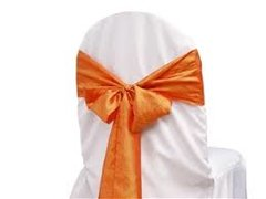 Chair Sash Satin -Orange