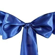 Chair Sash Satin -royal blue