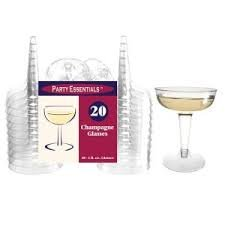 Clear 20ct. 2 pc wine