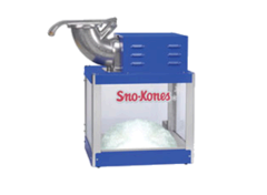 A Snow Cone Machine w/ 2 FREE flavors (35 servings)
