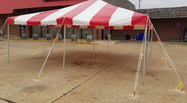 Tent - 20x30 Red/White Striped Tent