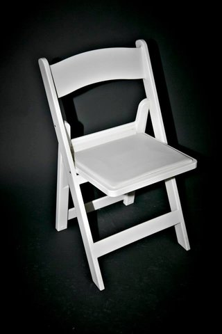 Folding Chairs - Padded White Resin