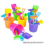 One Dozen 4 pc. beach bucket play set