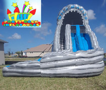 22' Wild Rapids Dual lane curve slide