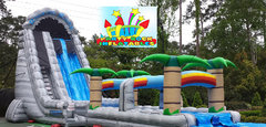 27ft Roaring Rapids Waterslide with Slip and Slide