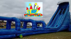 Blue Crush 32' With Giant Slip N Slide with pool