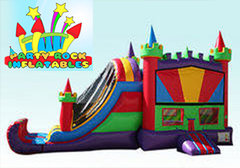 Multi Color Castle Combo with water slide
