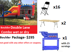 boulder double lane combo wet or dry package