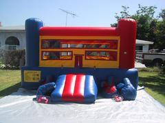15x15 Inflatable Boxing Ring with Jumbo Gloves