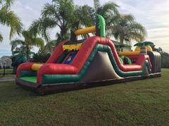 38' Tropical falls obstacle course