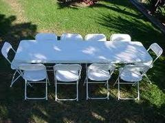 package : 8' table & 10 chairs