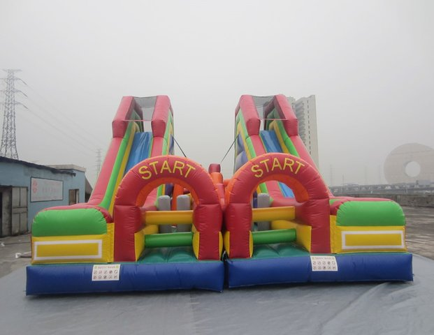 Xtreme Double Slide Obstacle Course
