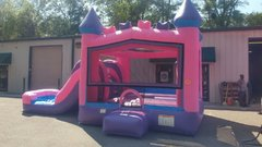 Princess Castle bounce house, slide, pool, hoop combo. Wet or dry.
