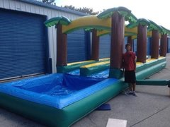 40ft dual lane tropical slip and slide