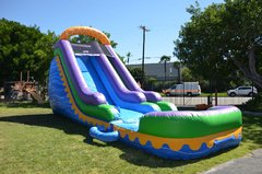 18ft sunrise water slide with pool. Wet or dry.