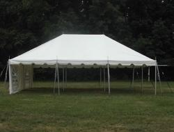 20x30 Frame Tent Package (Black Chairs)