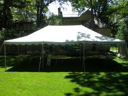 20 x 30 Pole Tent Package (Black Chairs)