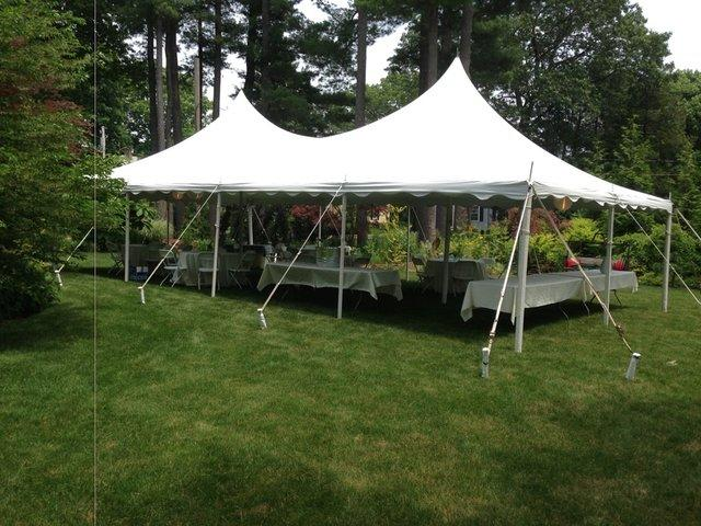 V20 x 40 Victorian Tent (Installed) & Franklin Party Rentals - bounce house rentals and slides for ...