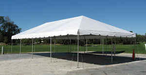 20x40 Frame Tent Package (White Chairs)