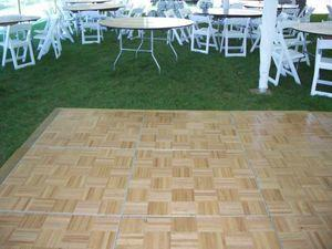 Dance Floor, Wood 3 x 3 Sections