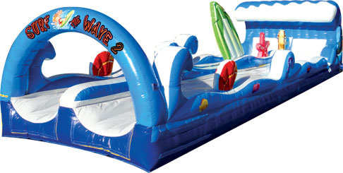 Surf The Wave Double Lane Slip and Slide