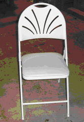 White Cushion Fanback Chair