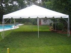 20x20 Frame Tent Package (Black Chairs)