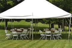 20 x 20 Pole Tent Package (White Chairs)