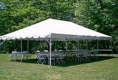 20x40 Frame Tent Package (Black Chairs)