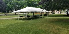 20 x 40 Pole Tent Package (Black Chairs)
