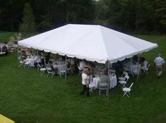 20x30 Frame Tent Package (White Chairs)