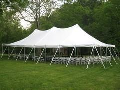 30 x 60 Pole Tent Package (Black Chairs)