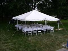 20 x 20 Pole Tent Package (Black Chairs)