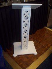 White Lattice Podium