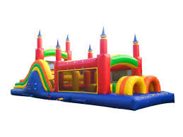 Rainbow Mega Obstacle Course - 40ft