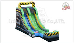 15ft Single Lane Slide WET or DRY Caution Delivery only 1C