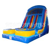 18 Foot Dual Lane Slide WET or DRY 2B Delivery only 4 Hour Rental