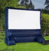 Movie Screen Only Inflated 12' 5'x9' viewable