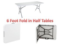 Table 6 Foot Fold in half white