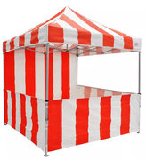 Canopy Carnival Kit 8x8 Pop Up Canopy Tent Vendor Booth with Sidewalls