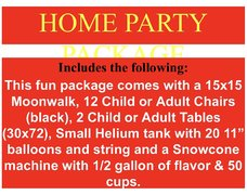 Home Party Package