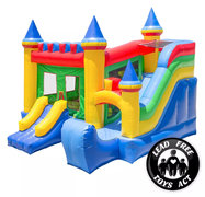 New Commercial Castle Bounce House with Blower and Slide