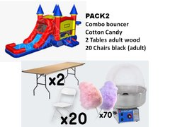 Castle Combo + Cotton Candy with 2 Tables + 20 Chairs (adult)