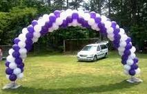 Balloon Arch Spiral 25foot wide by 13 foot high