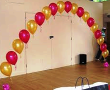 Balloon Arch Pearl 20' wide INDOOR ONLY