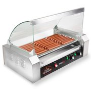 Hot Dog Roller Grill 18 hot dogs 900 Watt with Cover