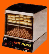 Hot Dog Steamer-only with Sliding Doors