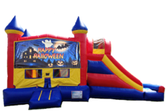 HAUNTED HOUSE HALLOWEEN Castle Combo Bounce