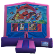 ANGRY BIRDS Purple & Pink Bounce House