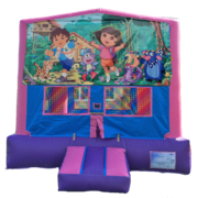 DORA & DIEGO Purple & Pink Bounce House